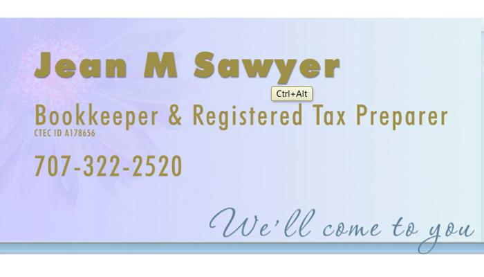 Jean Sawyer Bookkeeper